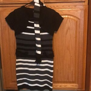 Other - Girls M(10-12) black dress with matching scarf
